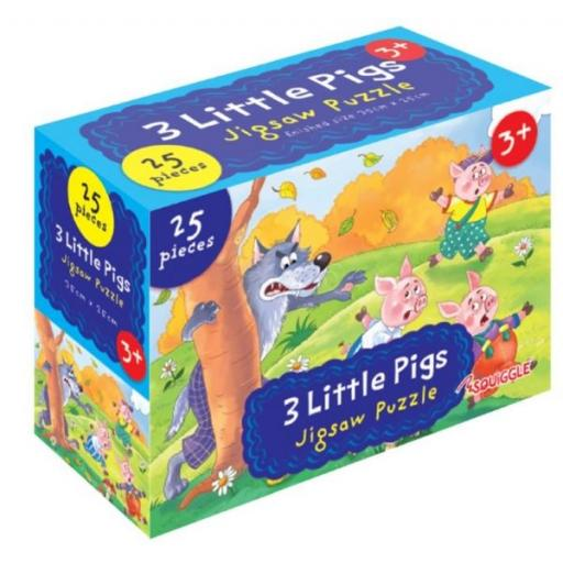 Squiggle 3 Little Pigs Jigsaw Puzzle - 25 Pieces