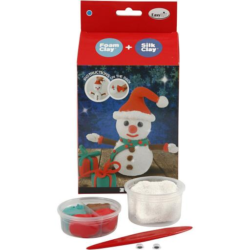 Creativ Foam & Silk Clay Easy Snowman Kit