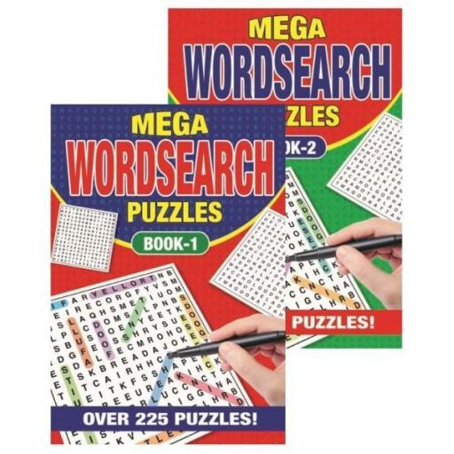 Squiggle A5 Mega Wordsearch Book, Over 225 Puzzles - 1 Random Book
