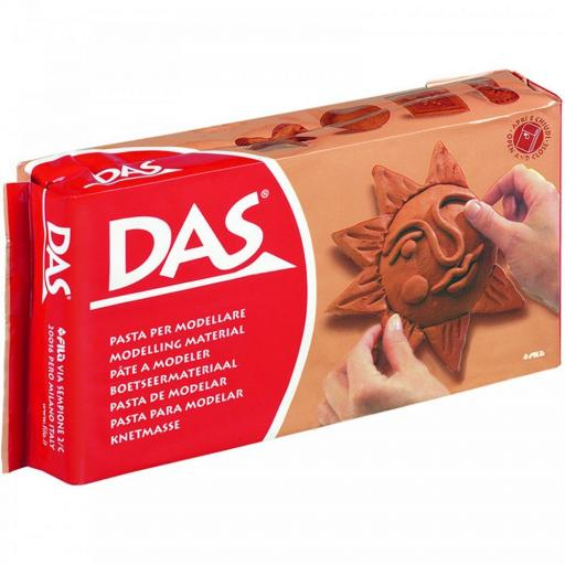 Fila DAS Modelling Clay 1kg Block - Terracotta