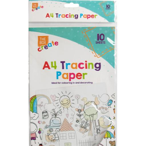 The Box A4 Tracing Paper - Pack of 10 Sheets