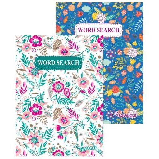 Squiggle A5 Floral Wordsearch Puzzle Book - 1 Random Book