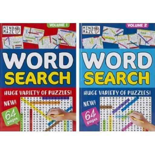 PMS Mind Maze A4 Wordsearch Puzzle Book - 1 Random Design