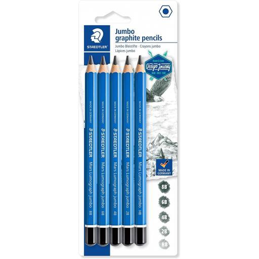 Staedtler Jumbo Graphite Pencils, Assorted Grades - Pack of 5