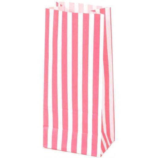 Paper Pick'n'Mix Bag, Pink & White Stripes - 10 Single Bags