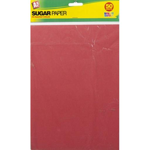 PMS A4 Sugar Paper, Assorted Colours - Pack of 50
