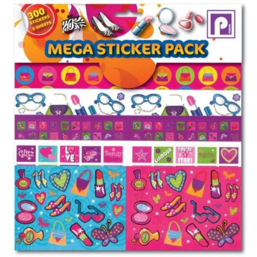 Pennine Mega Sticker Pack, Jewellery - 300 Stickers
