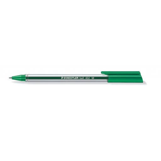 Staedtler Ballpoint Pen Medium - Green, Pack of 10