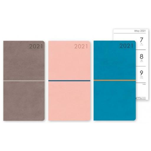 IGD Slim Moleskin 2021 Diary - Assorted Colours