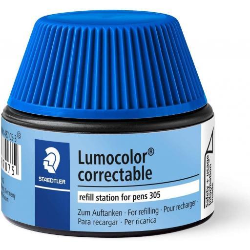 Staedtler Lumocolor Correctable Ink Refill - Blue