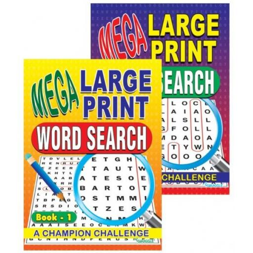 Squiggle A4 Mega Large Print Wordsearch Books 1&2 - Set of 2