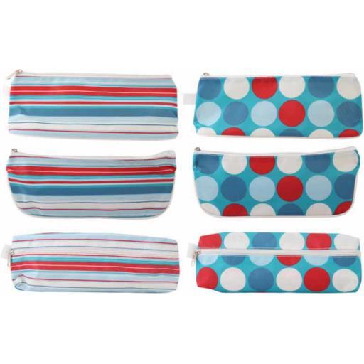 JS Spots & Stripes Pencil Case - Assorted Designs