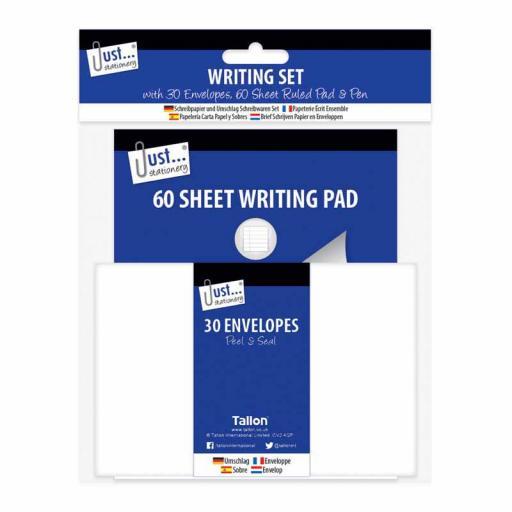 JS Writing Set - Pad, Envelopes & Pen
