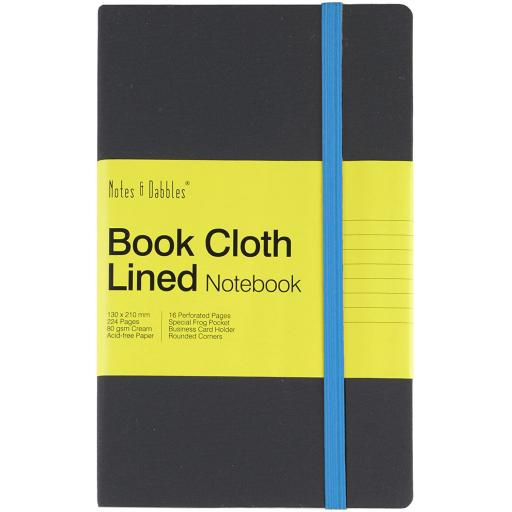 Notes & Dabbles Book Cloth Lined Notebook Medium