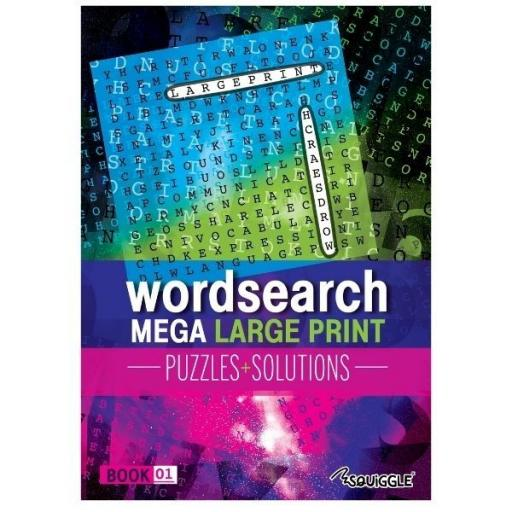 Squiggle Mega Large Print A4 Puzzles Glossy - Book 1