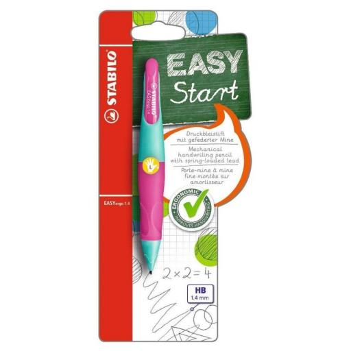 Stabilo Easy Ergo Left Handed Pencil 1.4mm - Turquoise/Pink