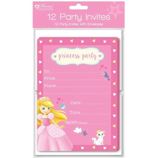 Home Collection Princess Party Invites - Pack of 12