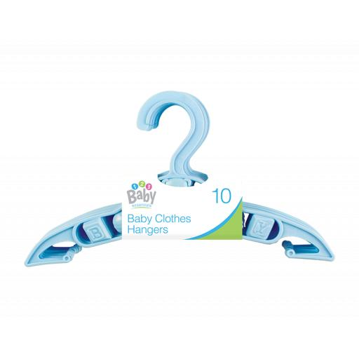 Baby Clothes Hangers, Blue - Pack of 10