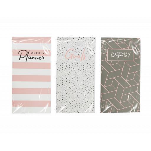 Gem Slim Weekly Planner Notebook - Assorted Designs