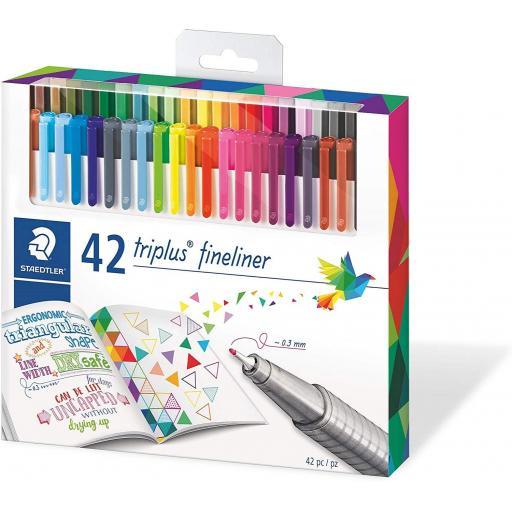 Staedtler Triplus Fineliner Pens - Box of 42