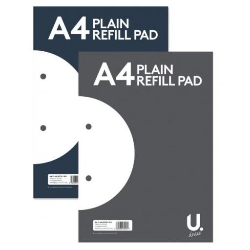 U. A4 Plain Refill Pad - 160pg