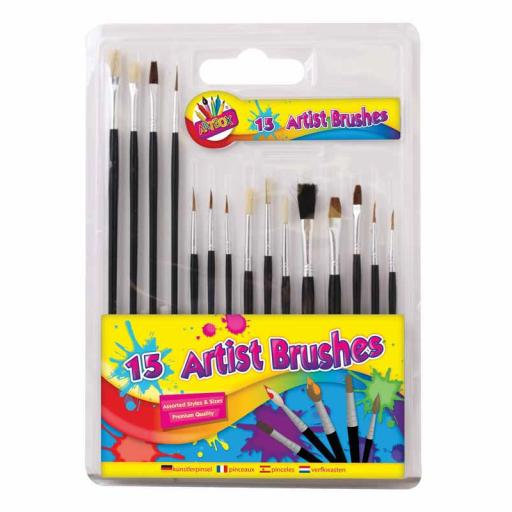 Artbox Artist Brushes - Pack of 15