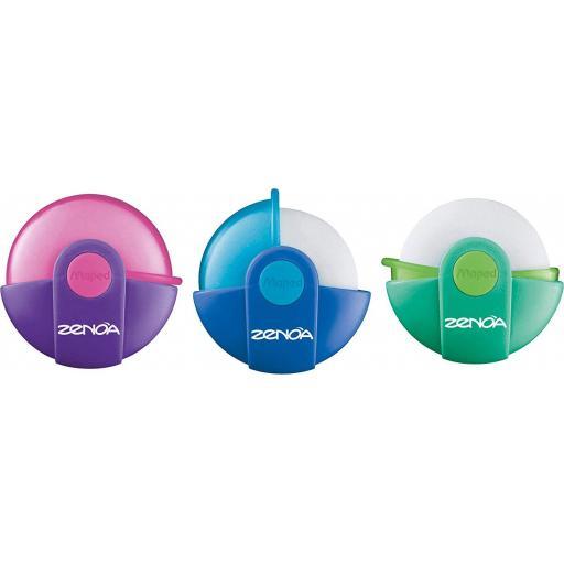 Maped Zenoa Original Cased Eraser - Assorted Colours