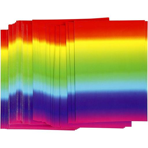 Creativ A4 Rainbow Coloured Card - Pack of 100 Sheets