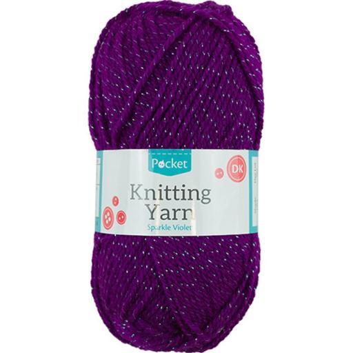 Knitting Yarn 50g - Sparkle Violet