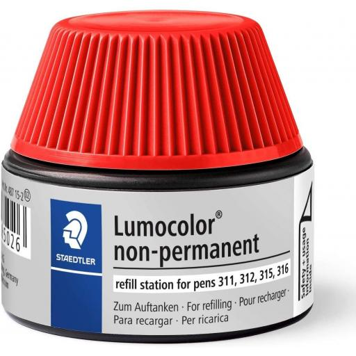 Staedtler Lumocolor Non-Permanent Ink Refill - Red