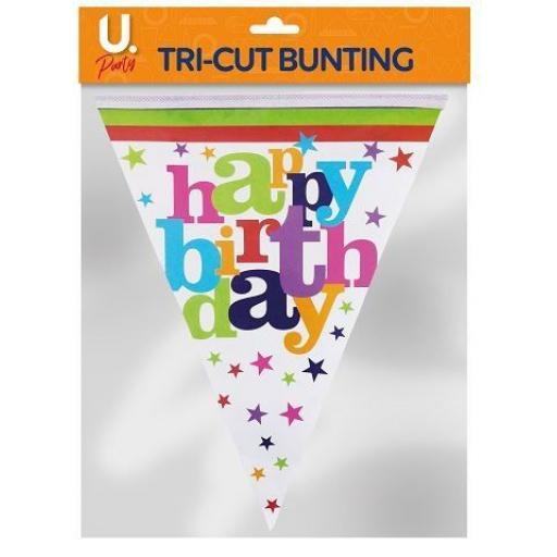 U.Party - Happy Birthday Tri-Cut Bunting