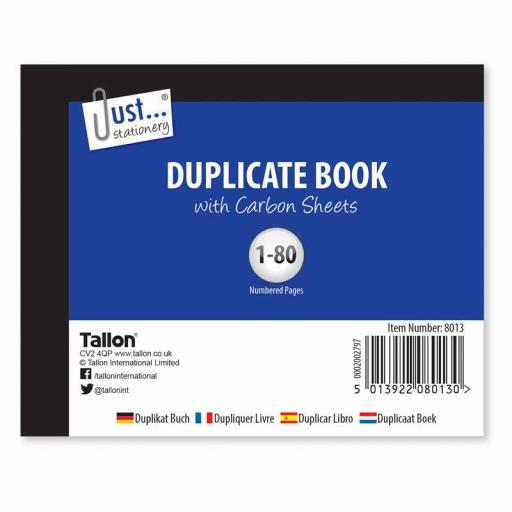 JS Duplicate Book Half Size with Carbon Sheets - 80 Sets