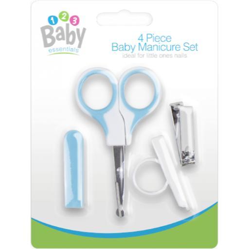 Gem Four Piece Baby Manicure Set - Blue