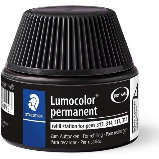 Staedtler Lumocolor Permanent Ink Refill - Black