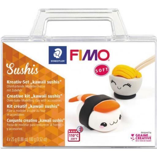 Staedtler Fimo Soft Creative Kit - Kawaii Sushis
