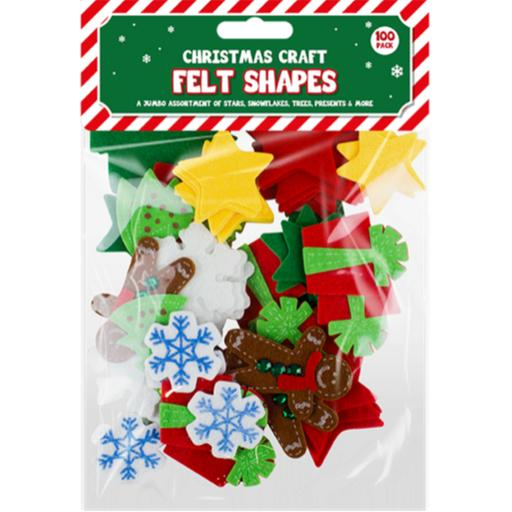 GEM Christmas Craft Felt Shapes - Pack of 100