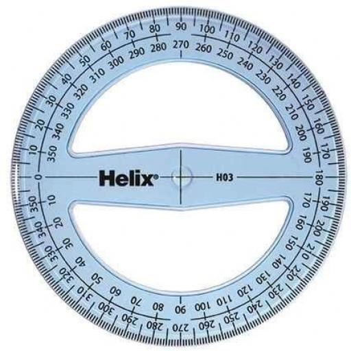 Helix 360 Degree Tinted H03 Protractor - Pack of 10