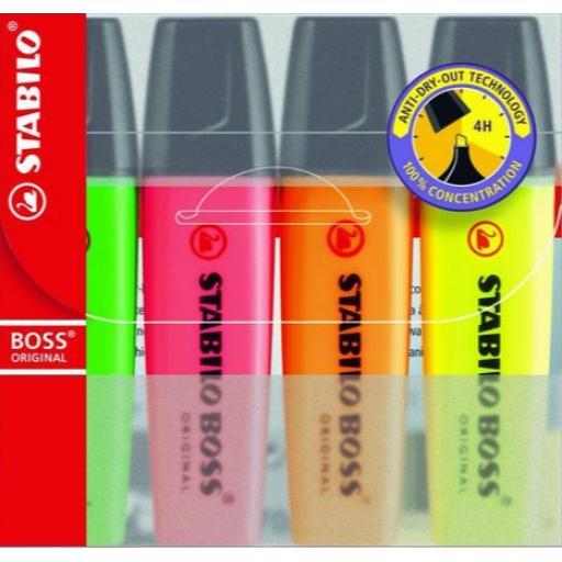 Stabilo Boss Original Highlighters Neon - Pack of 4