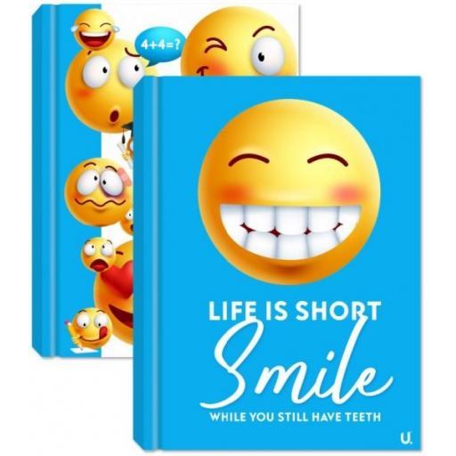 Squiggle Emoji A5 Hardback Notebook - Assorted