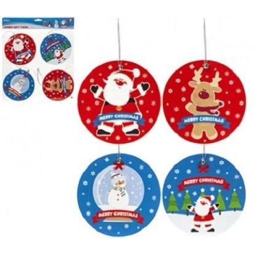PMS Snow White Jumbo Gift Tags - Pack of 8