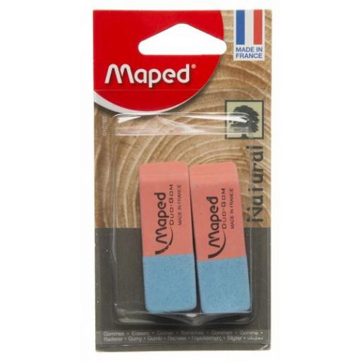 Maped Duo-Gom Pencil & Pen Erasers - Pack of 2