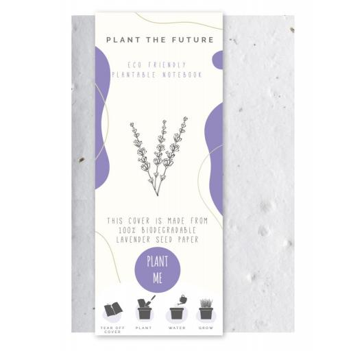 IGD Eco Friendly Plantable Lavender Seed Cover A5 Notebook