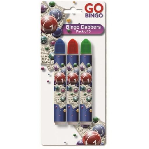 Go Bingo Dabbers, Assorted Colours - Pack of 3