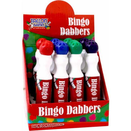 Tallon Large Bingo Dotters Assorted Colours - Pack of 12
