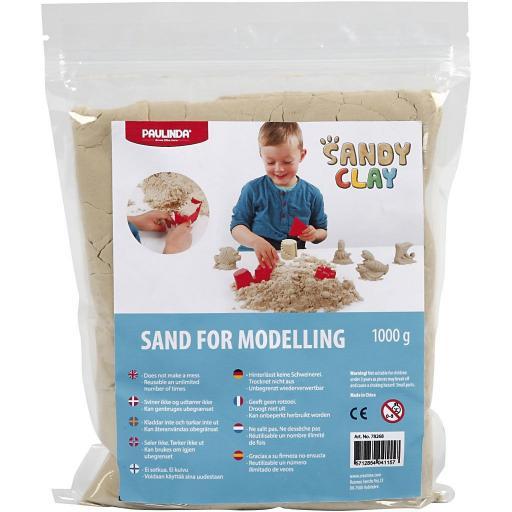 Paulinda Sandy Clay Sand for Modelling 1kg