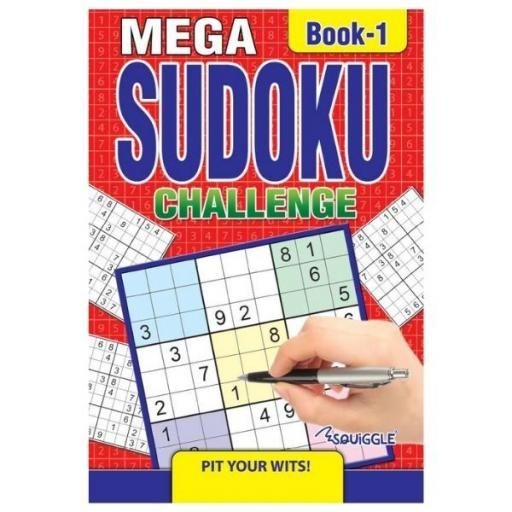 Squiggle Mega Sudoku Challenge - Random Book
