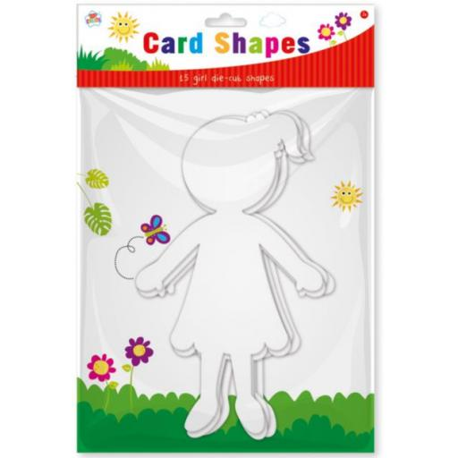 Kids Create Card Shapes, Girls - Pack of 15