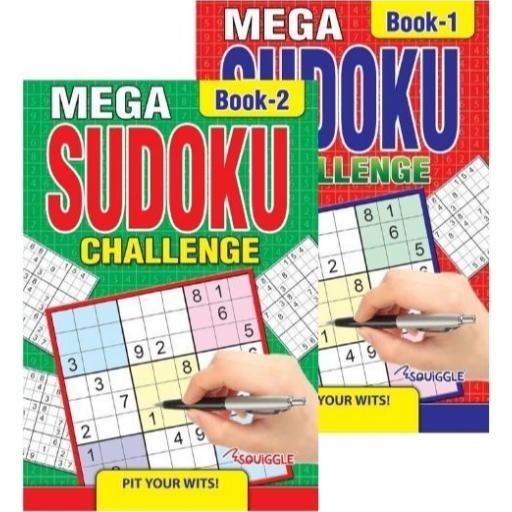 Squiggle Mega Sudoku Challenge 1 & 2