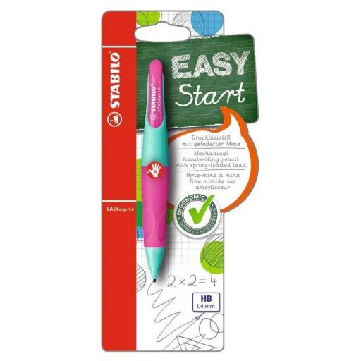 Stabilo Easy Ergo Right Handed Pencil 1.4mm - Turquoise/Pink