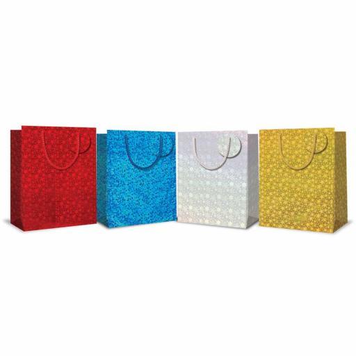 Tallon Holographic Christmas Gift Bags, Medium - Single Bag